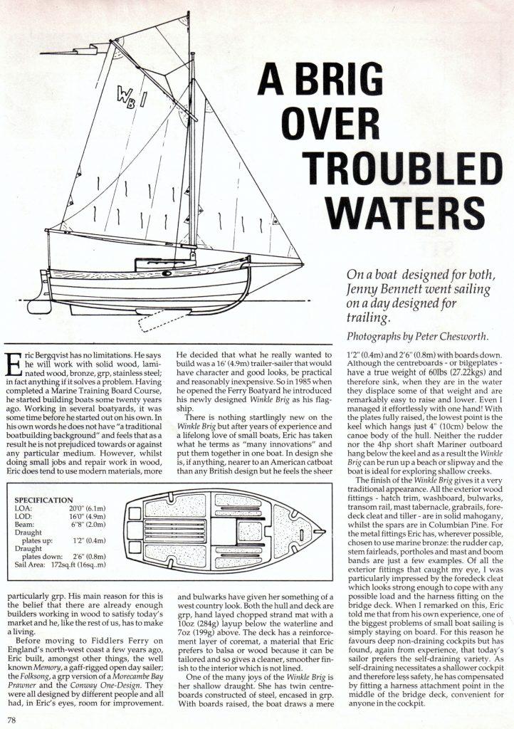 Classic Boat Magazine - Page 1 (1989)