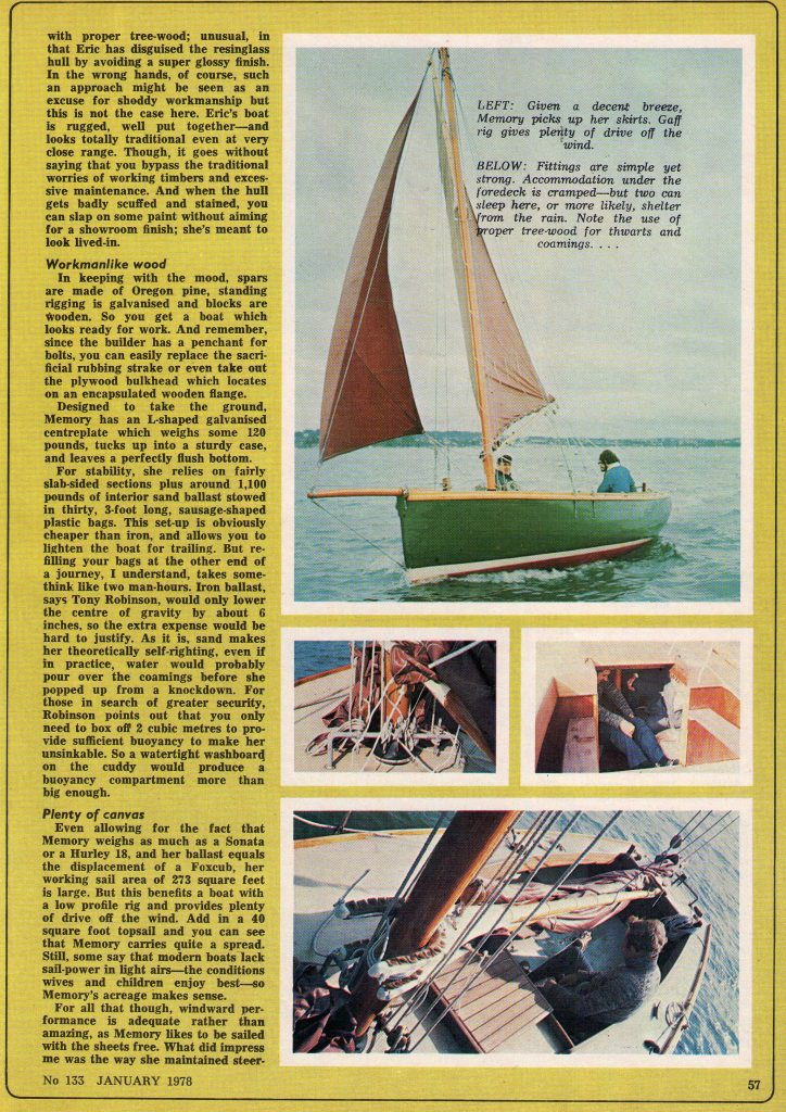 Lasting Memory - Page 2 (Practical Boat Owner January 1978)