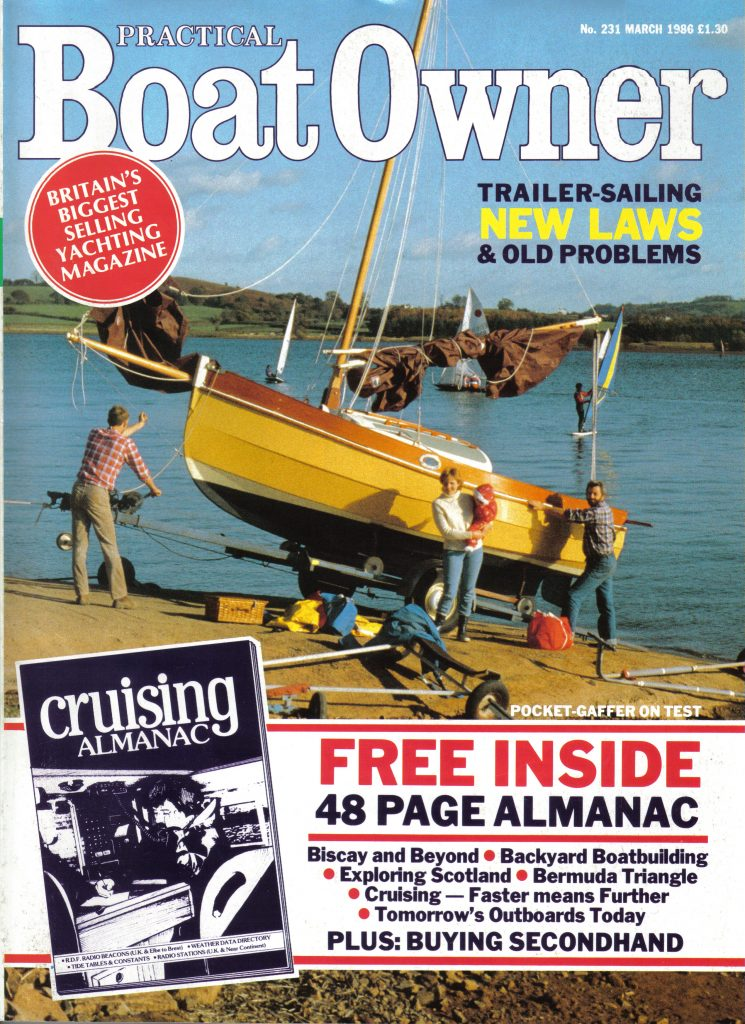 Practical Boat Owner Magazine - Front Cover (March 1986)