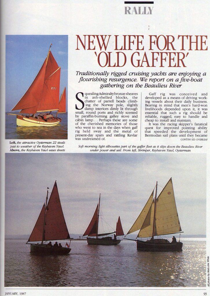 Yachting World Magazine - Page 2 (January 1987)