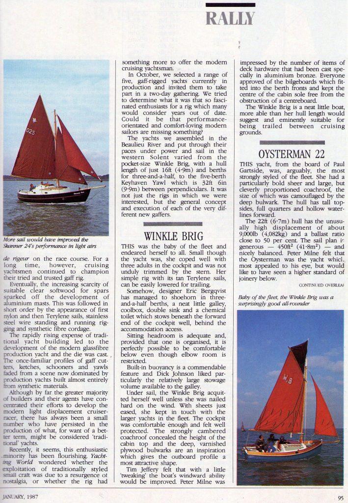 Yachting World Magazine - Page 4 (January 1987)