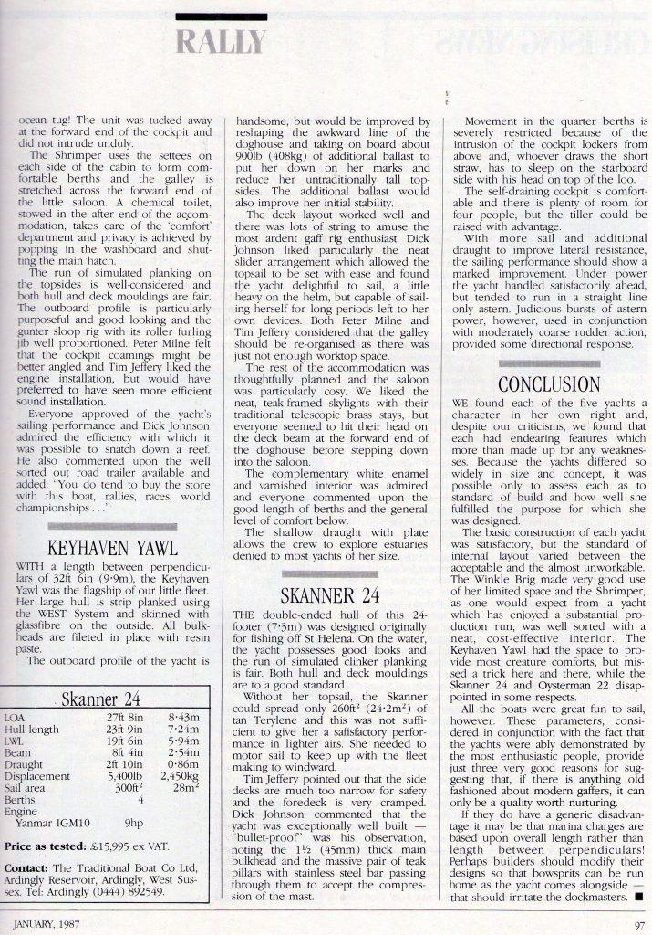 Yachting World Magazine - Page 6 (January 1987)