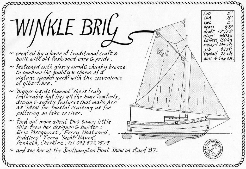 B&W landscape Winkle Brig advert